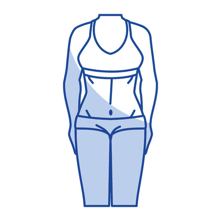 Frau mit Sport tragen Vektor-Illustration Design Standard-Bild - 80201923