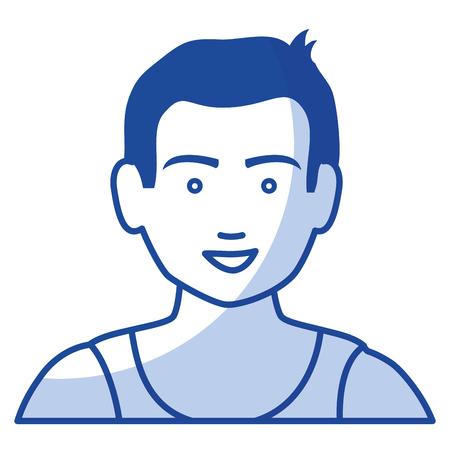 Illustrazione vettoriale di icone di carattere di atletica uomo Archivio Fotografico - 80201725
