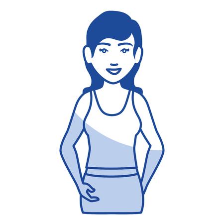Frau mit Sportbekleidung Vektor-Illustration Design Standard-Bild - 80202038