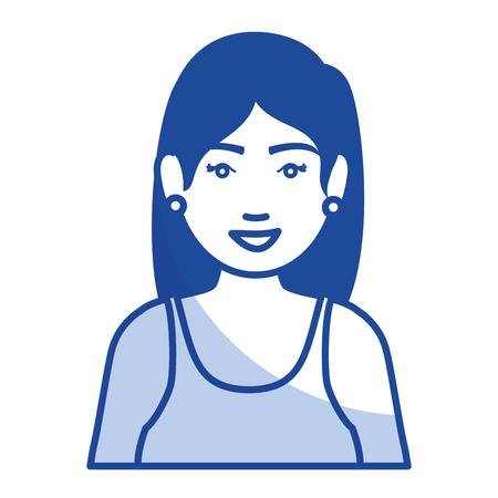 Frau mit Sportbekleidung Vektor-Illustration Design Standard-Bild - 80201927