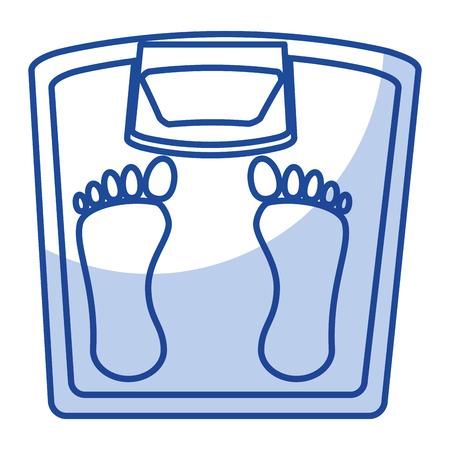 Gewicht balans badkamer pictogram vector illustratie ontwerp
