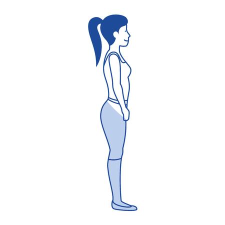 Frau mit Sportbekleidung Vektor-Illustration Design Standard-Bild - 80202880