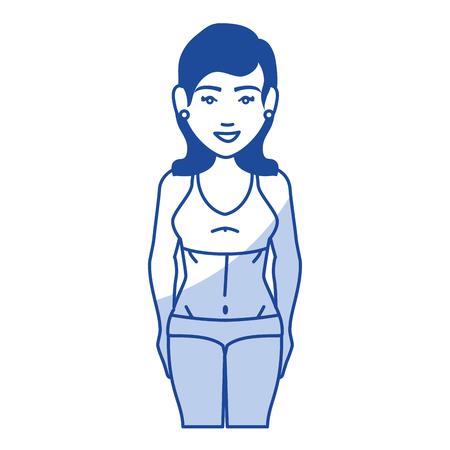 Frau mit Sportbekleidung Vektor-Illustration Design Standard-Bild - 80202580