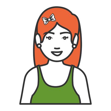 Frau mit Sportbekleidung Vektor-Illustration Design Standard-Bild - 80202885