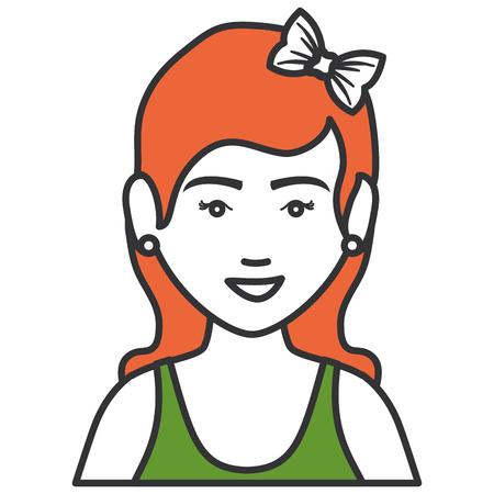 Frau mit Sportbekleidung Vektor-Illustration Design Standard-Bild - 80202890