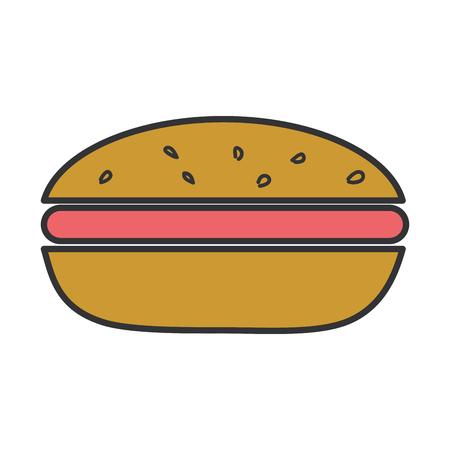 맛있는 햄버거 패스트 푸드 벡터 일러스트 레이 션 디자인