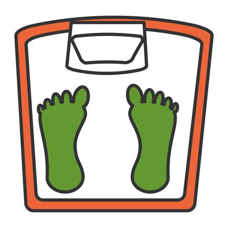 weight balance bathroom icon vector illustration design