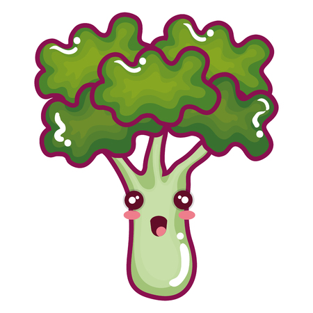 broccoli fresh vegetable character vector illustration design