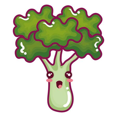 Brócoli carácter vegetal fresco ilustración vectorial diseño