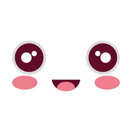 comic face emoticon vector illustration design Illustration