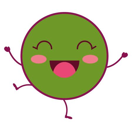 comic kawaii emoticon character vector illustration design