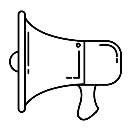 megaphone sound isolated icon vector illustration design