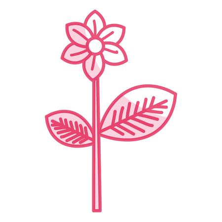 beautiful flowers decorative icon vector illustration design vector illustration design