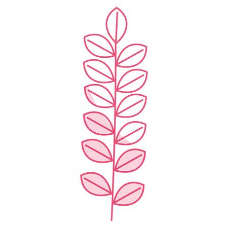 leafs wreath decorative icon vector illustration design