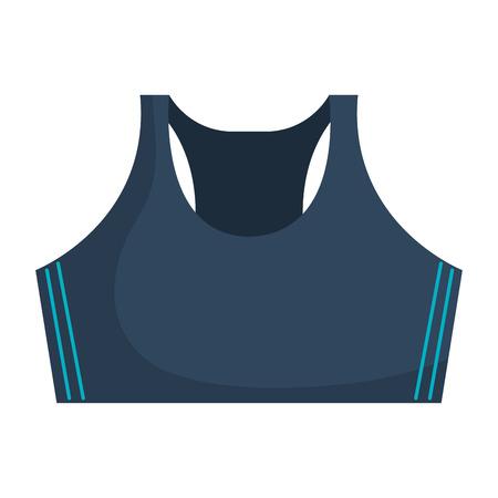Female gym blouse icon vector illustration design