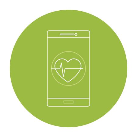 smartphone apps: smartphone with cardio app vector illustration design Illustration