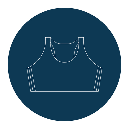 여성 체육관 블라우스 아이콘 벡터 일러스트 디자인