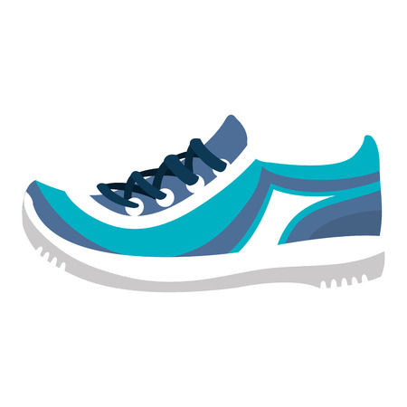 tennis shoe isolated icon vector illustration design