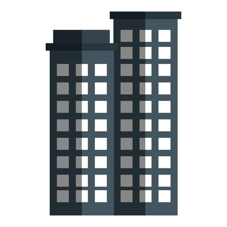 Edifici paesaggio urbano isolato icona illustrazione vettoriale di progettazione Archivio Fotografico - 80239857
