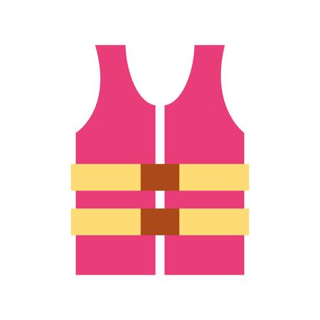 jacket lifeguard isolated icon vector illustration design