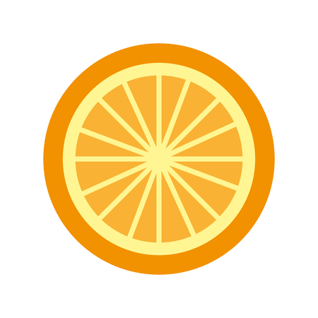 orange tropical and exotic fruit vector illustration design Ilustração