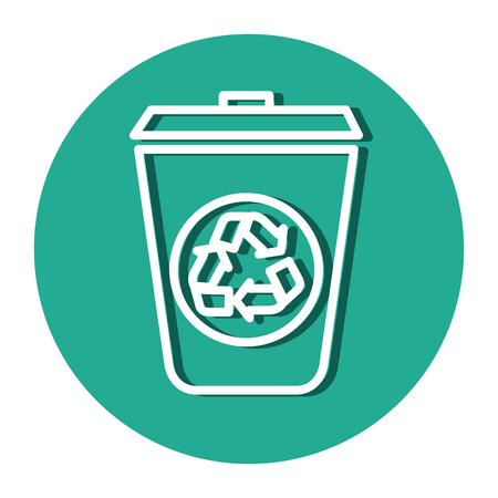 Ökologie Recycling bin isoliert Symbol Vektor-Illustration Design Vektorgrafik