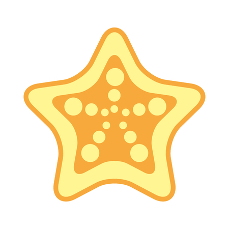 starfish tropical summer icon vector illustration design Ilustração