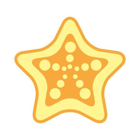 starfish tropical summer icon vector illustration design Illustration