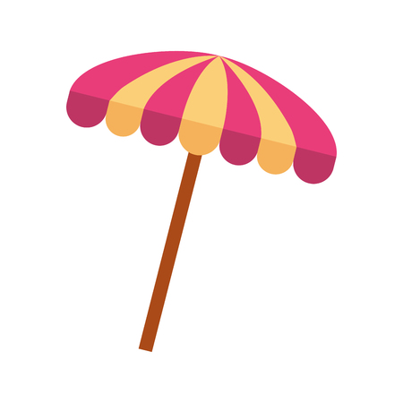 beach umbrella summer icon vector illustration design