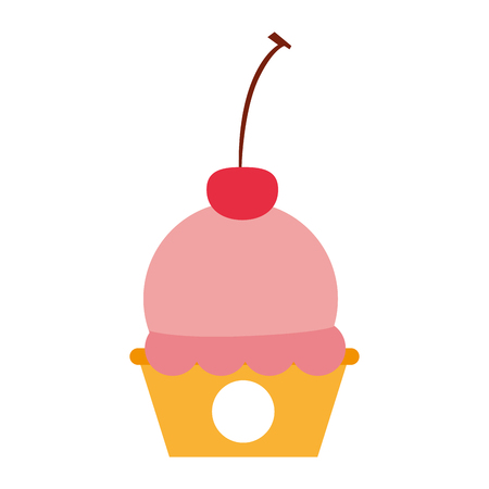 cup cake sweet icon vector illustration design Illustration