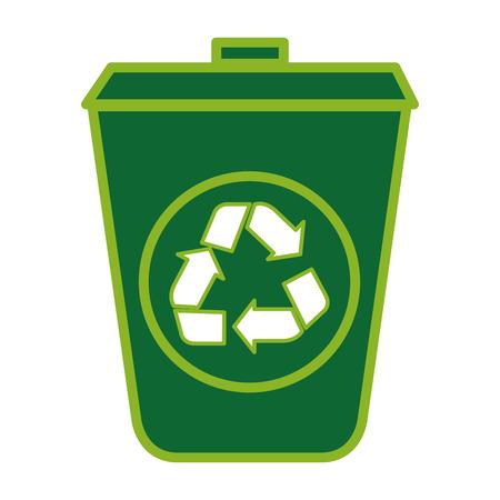 生態ごみ箱アイコン ベクトル イラスト デザインを分離しました。