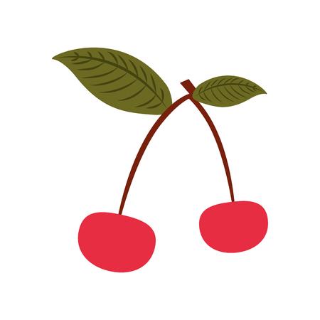 ontwerp van de kersen het tropische en exotische fruit vectorillustratie