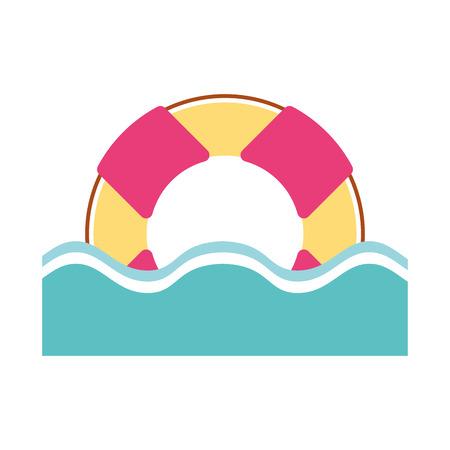 Galleggia il bagnino con progettazione dell'illustrazione di vettore dell'acqua Archivio Fotografico - 80240337