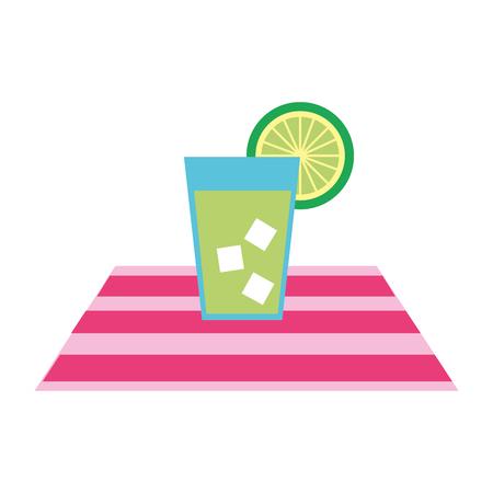 lemon juice tropical fruit beverage vector illustration design Illustration