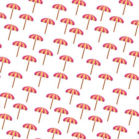 ビーチ傘夏パターン ベクトル イラスト デザイン