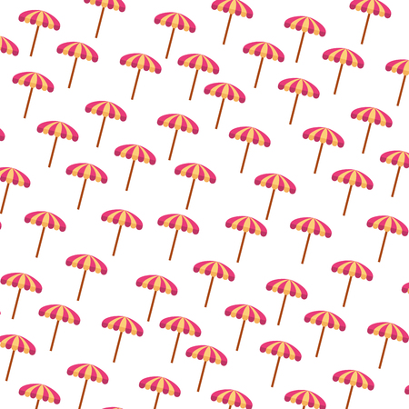 beach umbrella summer pattern vector illustration design
