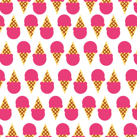 delicious ice cream pattern vector illustration design Çizim
