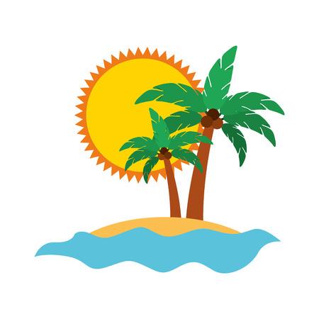 tree palm summer icon vector illustration design