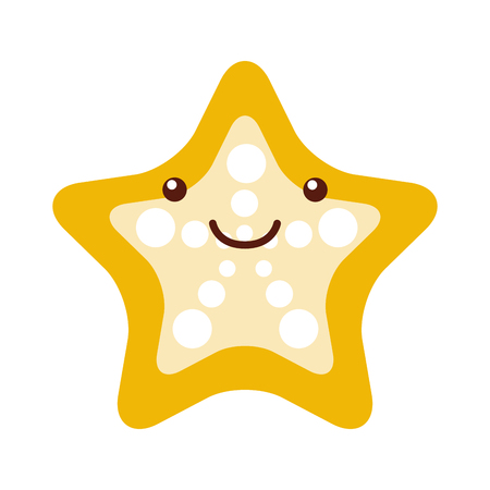 underwater fishes: starfish tropical character vector illustration design Illustration