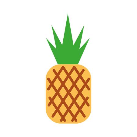 파인애플 열대와 이국적인 과일 벡터 일러스트 레이션 디자인