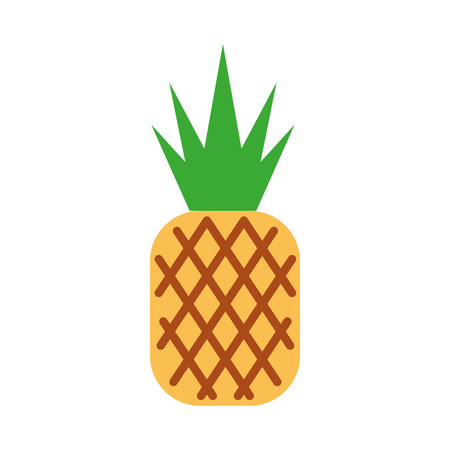 pineapple tropical and exotic fruit vector illustration design Illusztráció