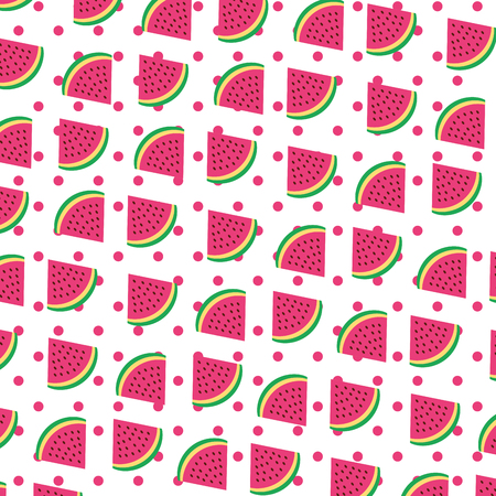 watermelon tropical and exotic fruit pattern vector illustration design