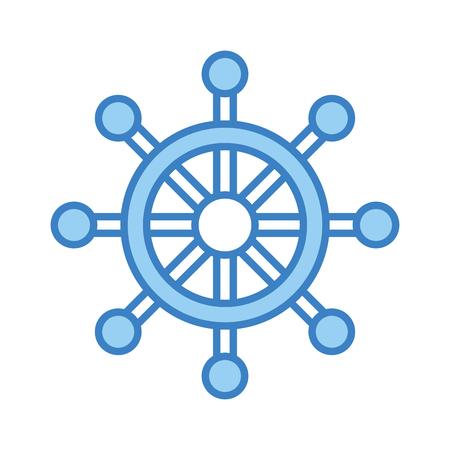 boat timon isolated icon vector illustration design Иллюстрация