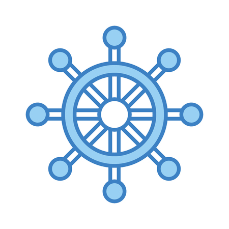 Timone di barca isolato icona illustrazione vettoriale di progettazione Archivio Fotografico - 80240026