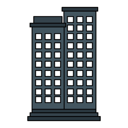 simple life: buildings cityscape isolated icon vector illustration design
