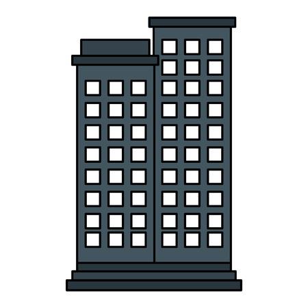 Edifici cityscape isolato icona illustrazione vettoriale illustrazione Archivio Fotografico - 80254521