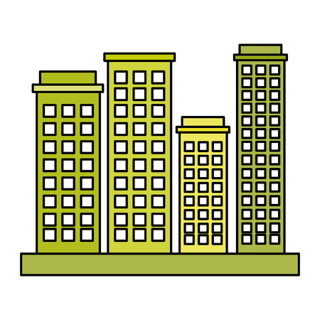 buildings cityscape isolated icon vector illustration design