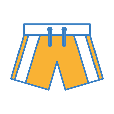 male Swimwear isolated icon vector illustration design