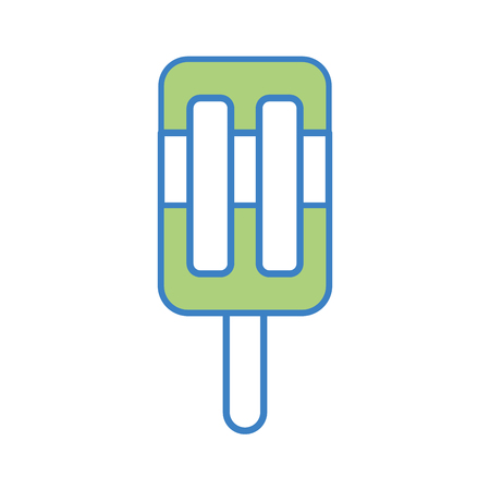 Popsicle ice isolated icon vector illustration design
