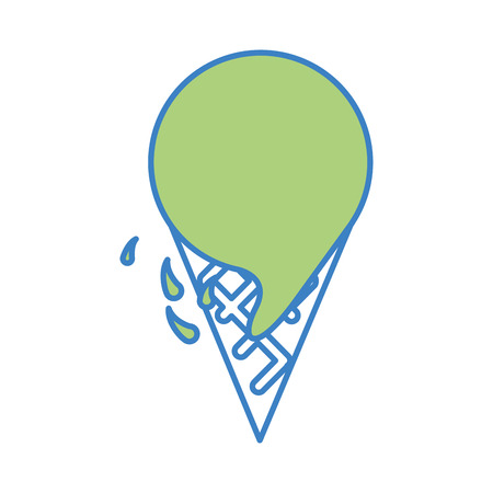 맛있는 아이스크림 격리 된 아이콘 벡터 일러스트 디자인 일러스트